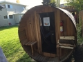 Barrel Sauna Front