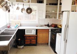 Kitchen-Base Camp Anchorage hostel