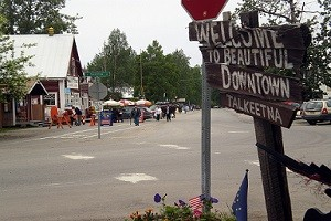 a view of downtown talkeetna